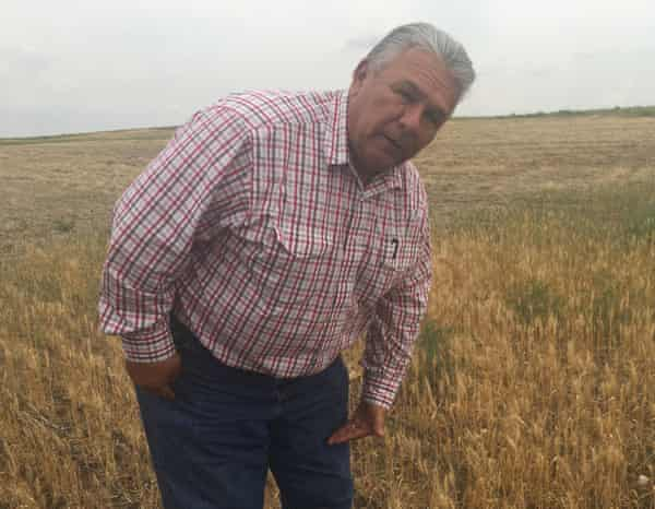 Rick Kirn, a Montana wheat farmer. 'There's nothing to harvest.'
