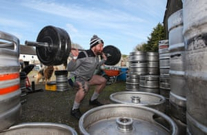 Publican and Meath inter-county footballer Mickey Burke trains at his home in Longwood.