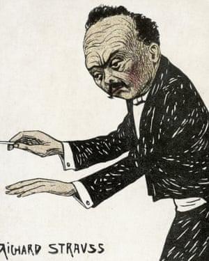 Richard Strauss 1910 caricature