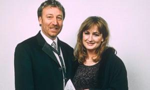 Peter Hook and Caroline Aherne in 1996