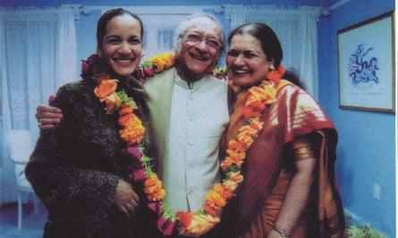 Anoushka, Ravi and Sukanya Shankar, supplied by Albion Media