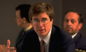 Stephen Moore in 1995. Moore, now 59, is being pursued by the IRS for $75,000 in taxes he is said to owe from 2014.