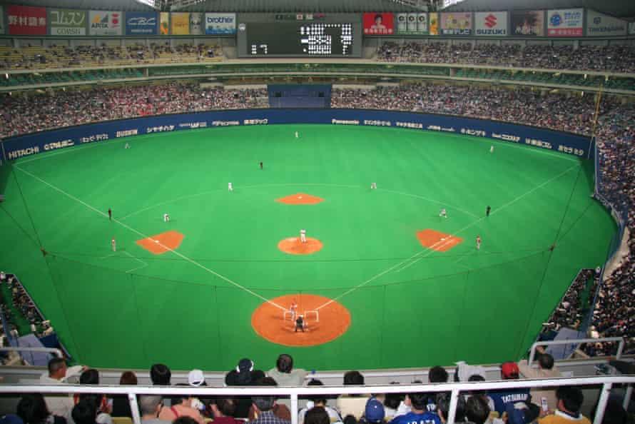 Baseball game at Nagoya Dome.