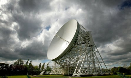 The Lovell Telescope, which has had Grade I listing since 1988. The Mark II telescope now joins it as a Grade I listed structure.