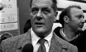 Derek Robinson taking part in a protest at Longbridge, Birmingham, against his sacking by British Leyland.