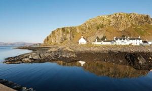 Eilean Eisdeal in the Firth of Lorn, Scotland.