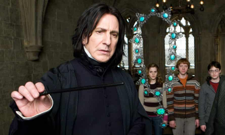 Rickman in Harry Potter and the Half-Blood Prince.
