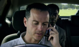 Tech rage … Andrew Scott with Damson Idris in Black Mirror: Smithereens.