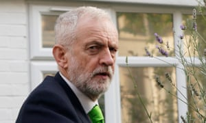 Jeremy Corbyn leaving his home this morning.