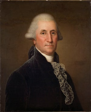 A portrait of George Washington, 1794-96, by Adolf Ulric Wertmuller, born in Stockholm, is one of the paintings that was removed