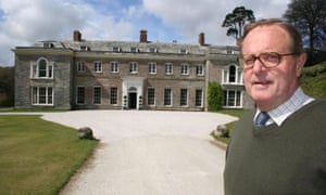 Anthony Fortescue outside Boconnoc House.