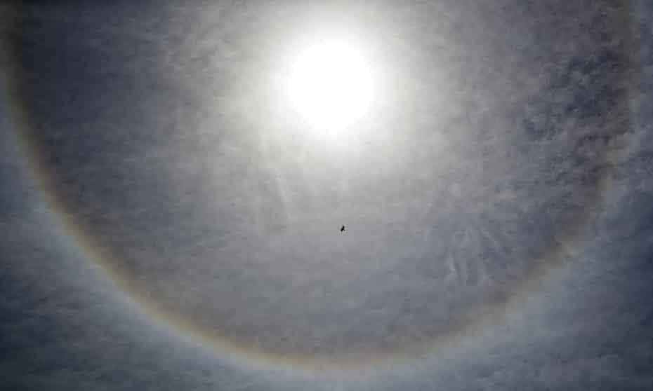 The greatest losses in ozone occurred over Antarctica.