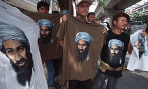 Osama bin Laden T-shirts on sale in Bangkok, Thailand, reinforce his image as the Muslim Che Guevara.