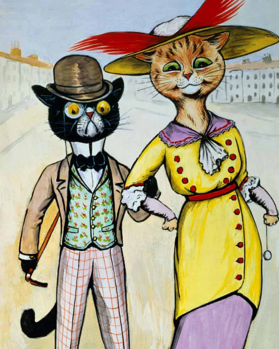 'Strange and fascinating feline world': a 1913 watercolour by Louis Wain.