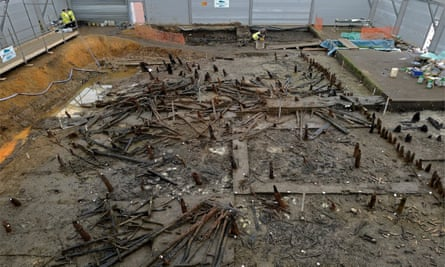 Archaeologists' excavation at Must Farm