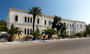 Italian job … the Naval Barracks in Lakki.