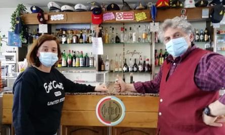 Vanessa Verruchi and Paolo Marchi Lunardi, owners of L'Appennino da Pacetto