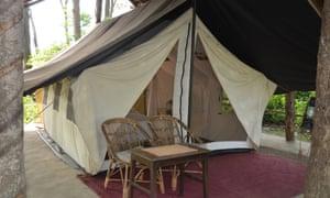 Elephant camp accomodation at Tiger Tops camp