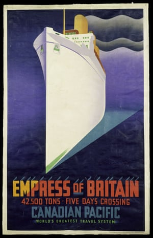 Empress of Britain: publicity poster from the V&A exhibition Ocean Liners: Speed and Style