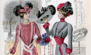 Ladies' fashions in the late 19th century