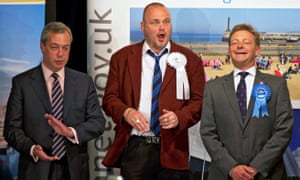 The Conservative party's Craig Mackinlay after winning the South Thanet seat