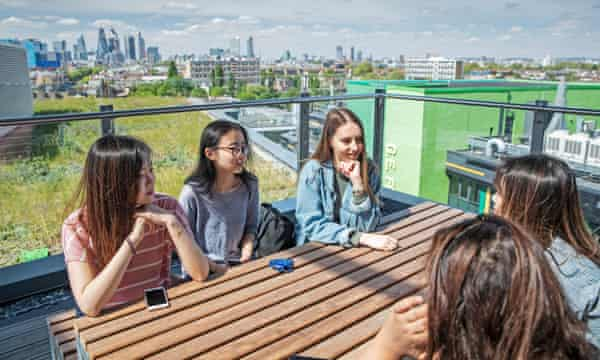 Students at Mile End campus.
