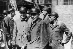 In September 1944, Höcker visited the Jawischowitz mining camp, less than 10km from Auschwitz. He went with a group of SS doctors who had participated in the dedication of a new SS hospital near the camp. In the picture, Höcker stands with, among others, the SS Doctors Enno Lolling and Eduard Wirths, both of whom committed suicide at the end of the war, and Alfred Trzebinski, who was executed in 8 October 1946. All three had participated in medical experiments that used prisoners. Hoecker, for once, looks unsettled