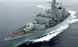 A Royal Navy frigate in the Gulf