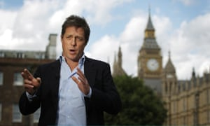 Hugh Grant gives a television interview in support of Hacked Off days before the News of the World shut down.