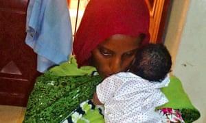 A photo of Meriam Ibrahim and her newborn daughter Maya taken in prison.