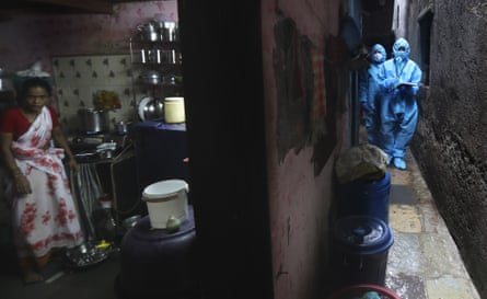 The cramped conditions inside India's slums have enabled coronavirus to spread easily.