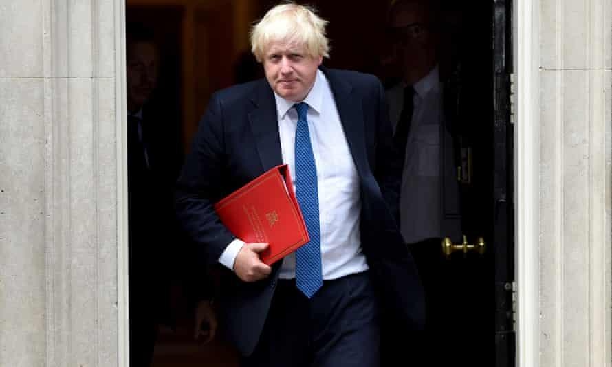 Boris Johnson departing Downing Street last week
