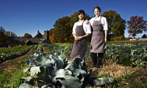 Alexis Bijaoui and Manon Fleury photographed at Stone Barns center by Melanie Dunea for Observer Food Monthly