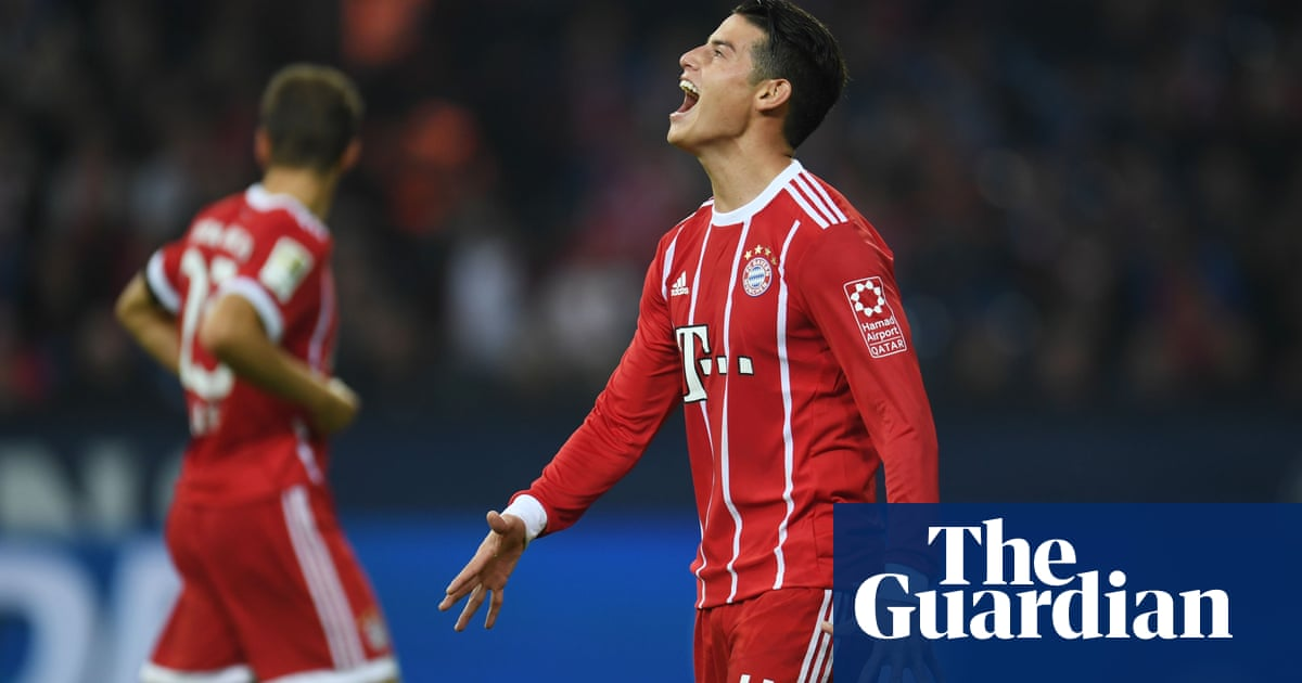 04136132f European roundup  James Rodríguez inspires Bayern to Bundesliga summit. •  On loan Real Madrid ...