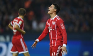 James Rodríguez scored one goal and had a hand in the other two as Bayern Munich beat Schalke 3-0.