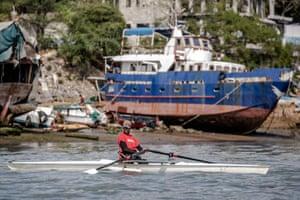 On the water in Mombasa, Asiya's home city.