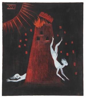 Tarot card paintings by artist Leonora Carrington.