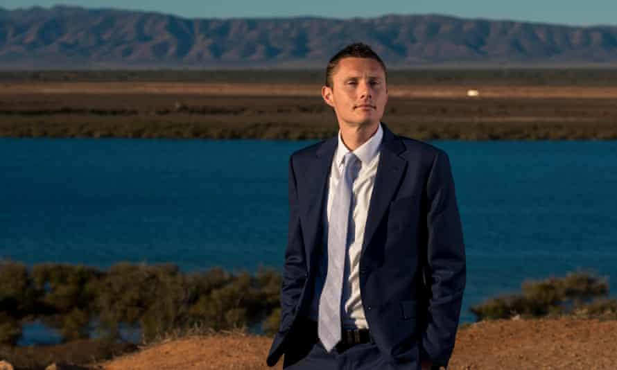 Port Augusta mayor Sam Johnson, Flinders Rangers in the background