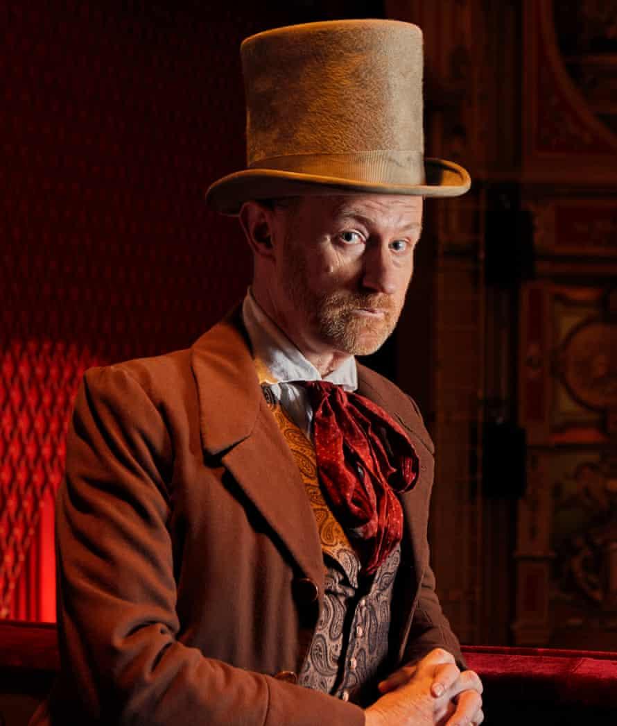 Mark Gatiss as Jacob Marley's ghost photographed at Hackney Empire, Nov 2020