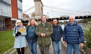 Canvassing with Dominic Grieve, centre, in Marlow are Sue McNab, usually a Labour supporter, Katie Breathwick, Liberal Democrat, Andy Ford, Lib Dem, and Gareth Roblin, Labour.