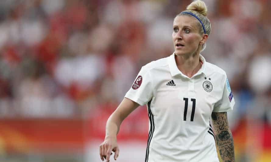 Anja Mittag in action Germany at Euro 2017