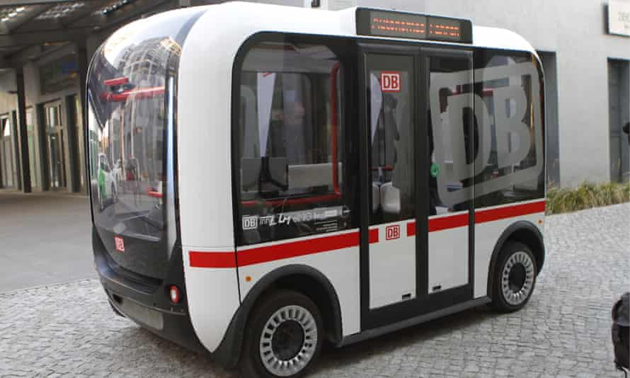 Driverless buses, similar to these prototypes trialed in Berlin, will soon arrive in Australia.