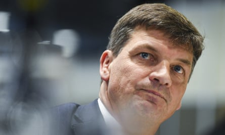 Australian energy minister Angus Taylor delivers his address to the National Press Club in Canberra, 22 September 2020.