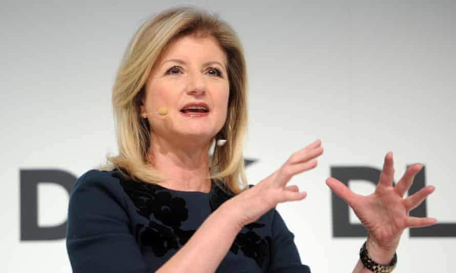 Arianna Huffington speaks in Munich.
