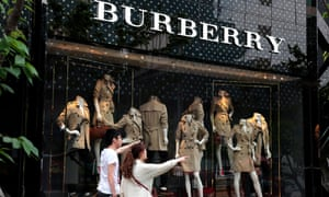 A Burberry store in shanghai