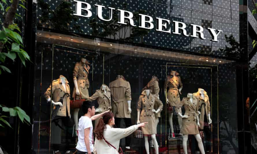 Burberry in Shanghai showing the trademark trenchcoat