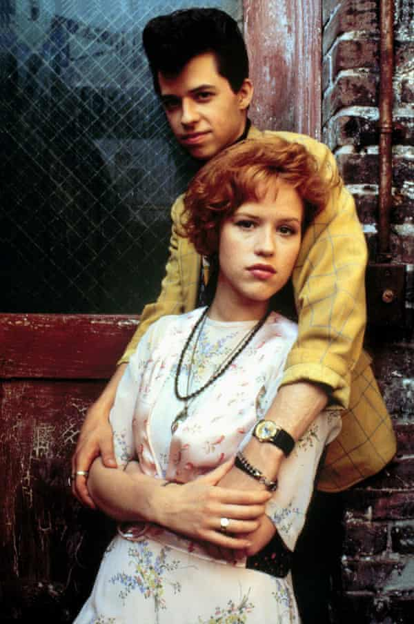 Jon Cryer and Molly Ringwald in Pretty in Pink.