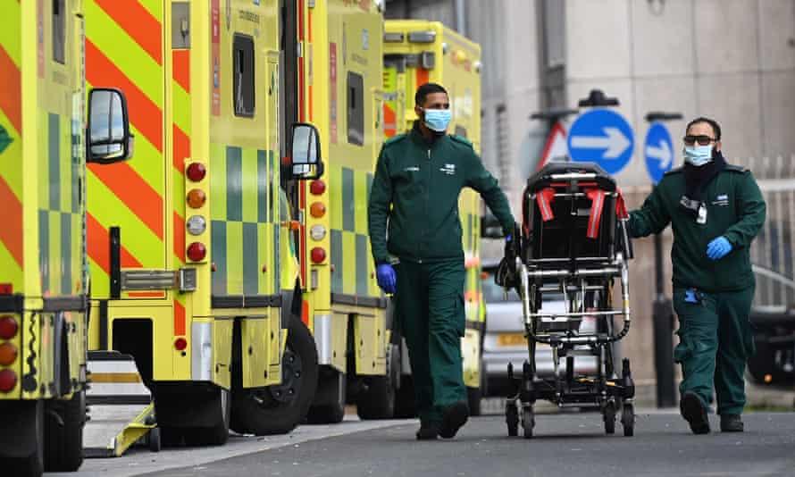 Ambulance staff in London