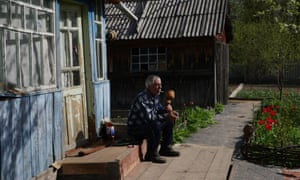Vasyl Sokirenko who has settled in an abandoned village in the Chernobyl exclusion zone.