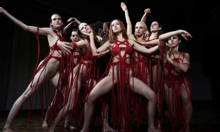 Dakota Johnson (centre) as Susie Bannion in Luca Gadagnino's horror remake Suspiria.